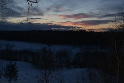 Заснеженные пейзажи Угры